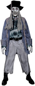 Mens Creepy Captain Fancy Dress Costume