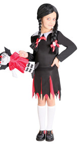 Girls Scary Daughter Fancy Dress Costume 2