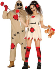 Couples Voodoo Doll Fancy Dress Costumes