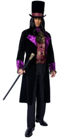 Mens Gothic Count Fancy Dress Costume