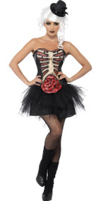 Ladies Grotesque Burlesque Fancy Dress Costume