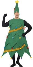 Adult Deluxe Christmas Tree Fancy Dress Costume