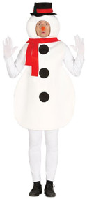Adult Silly Snowman Fancy Dress Costume