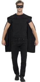 Adults Black Cape & Mask Set