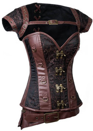 Ladies Deluxe Steampunk Fancy Dress Costume