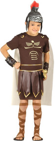 Boys Ancient Roman Soldier Fancy Dress Costume
