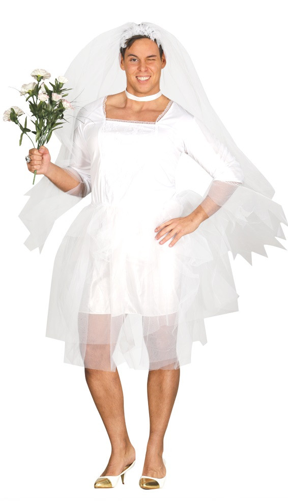 Mens Bride Fancy Dress Costume