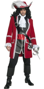 Mens Deluxe Pirate Captain Fancy Dress Costume