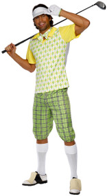 Mens Classic Golfer Fancy Dress Costume