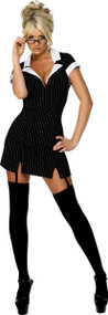 Ladies Sexy Secretary Fancy Dress Costume 2