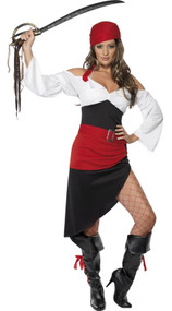 Ladies Pirate Wench Fancy Dress Costume 2