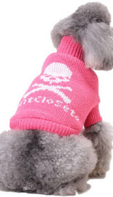 Dog Pink Skull Sweater