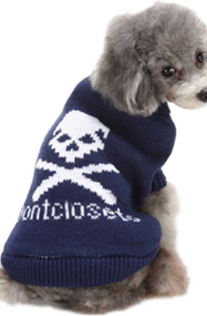 Dog Blue Skull Sweater
