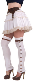 Ladies Steampunk Long Spats Fancy Dress Costume Accesory