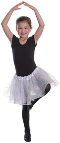 Girls White Sequin Stars Tutu Fancy Dress Costume Outfit Accessory