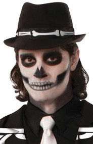 Ladies Mens Halloween Skeleton Bones Fedora Hat