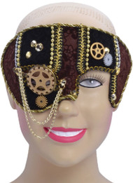 Mens Steampunk Masquerade Mask With Monocle