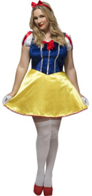 Ladies Plus Size Snow Princess Fancy Dress Costume