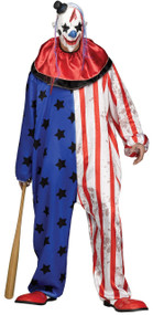 Mens American Horror Clown Fancy Dress Costume