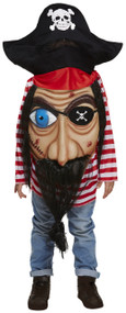 Child's Jumbo Face Pirate Fancy Dress Costume