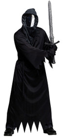 Mens Masked Mirror Reaper Fancy Dress Costume