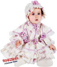 Girls Antique Doll Fancy Dress Costume
