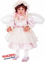 Girls Frilly Fairy Fancy Dress Costume