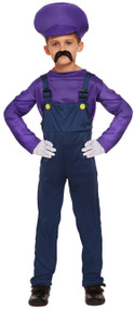 Boys  Purple Workman Fancy Dress Costume