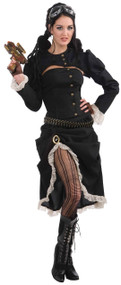 Ladies Steampunk Renegade Rebel Fancy Dress Costume