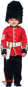 Boys Deluxe Busby Guard Fancy Dress Costume