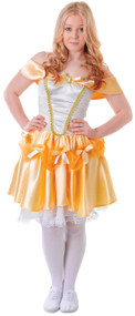 Teen Girls Reserved Beauty Golden Princess Fancy Dress Costume