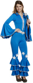 Ladies 70's 80's Disco Pop Star Fancy Dress Costume