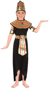 Girls Black Queen of The Nile Fancy Dress Costume