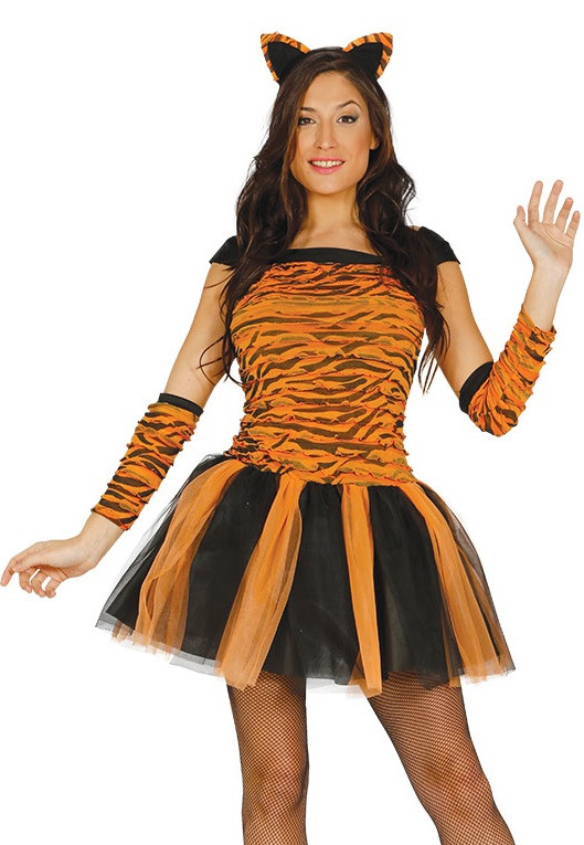 184c5e2e83 Ladies Tiger Tutu Fancy Dress Costume - Fancy Me Limited