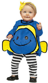 Baby Blue Fish Fancy Dress Costume