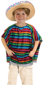 Child's  Mexican Poncho Fancy Dress Costume