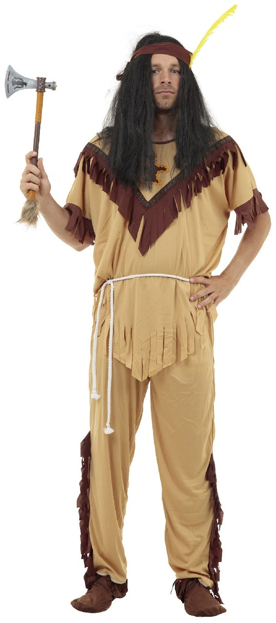 Mens Native American Indian Fancy Dress Costume Fancy Me Limited