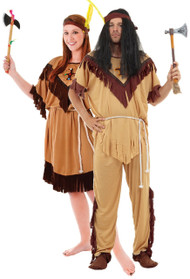 Couples Native American Indian Fancy Dress Costume