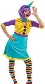Ladies Cute Clown Fancy Dress Costume