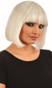 Ladies Short Glow In The Dark Fancy Dress Wig