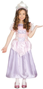 Girls Purple Princess Fancy Dress Costume 1