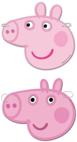 6 Pack of Peppa Pig Party Masks