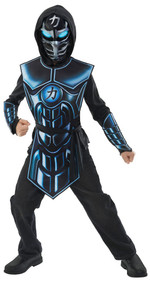 Child's  Light up Robot Ninja Fancy Dress Costume