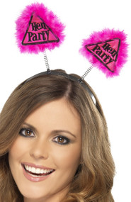 Ladies Pink Hen Party Bopper Hairband