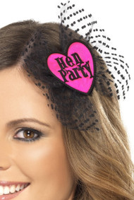 Ladies Hen Party Hair Bow With Veil