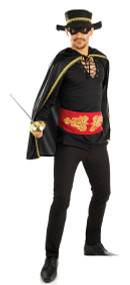 Mens Highway Bandit Fancy Dress Costume
