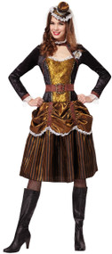 Ladies Steampunk Fancy Dress Costume