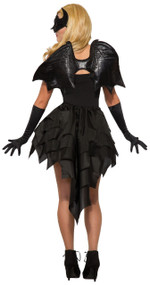 Adult Black Bat Fancy Dress Costume Wings