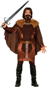 Mens Medieval Knight King Fancy Dress Costume