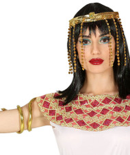 Ladies Cleopatra Headpiece & Armband Fancy Dress Accessory